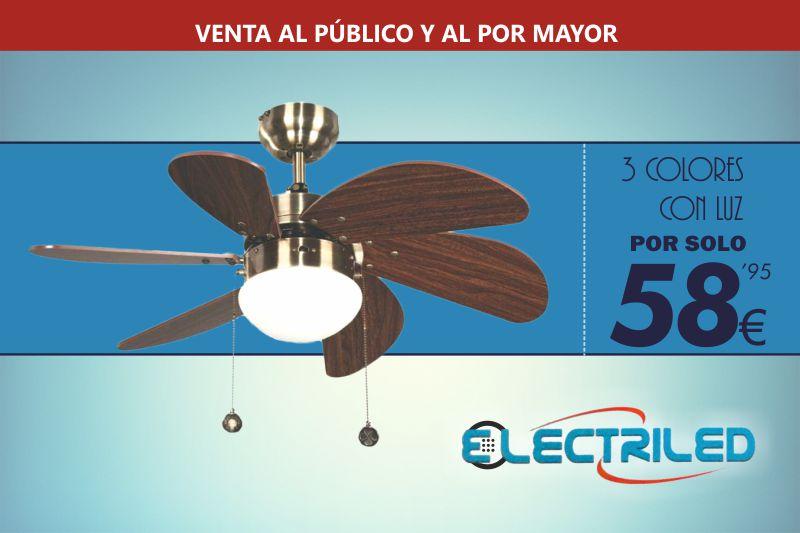 Ventilador de techo a 58,95 Euros