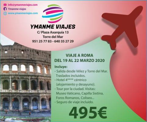 Viaje a Roma del 19 al 22 de Marzo