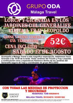 EXCURSION LORCA Y GRANADA EN LOS JARDINES DEL